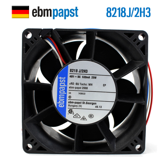 NEW ebmpapst PAPST 8218J/2H3 8038 48V 0.53A server DC cooling fanNEW ebmpapst PAPST 8218J/2H3 8038 48V 0.53A server DC cooling fan