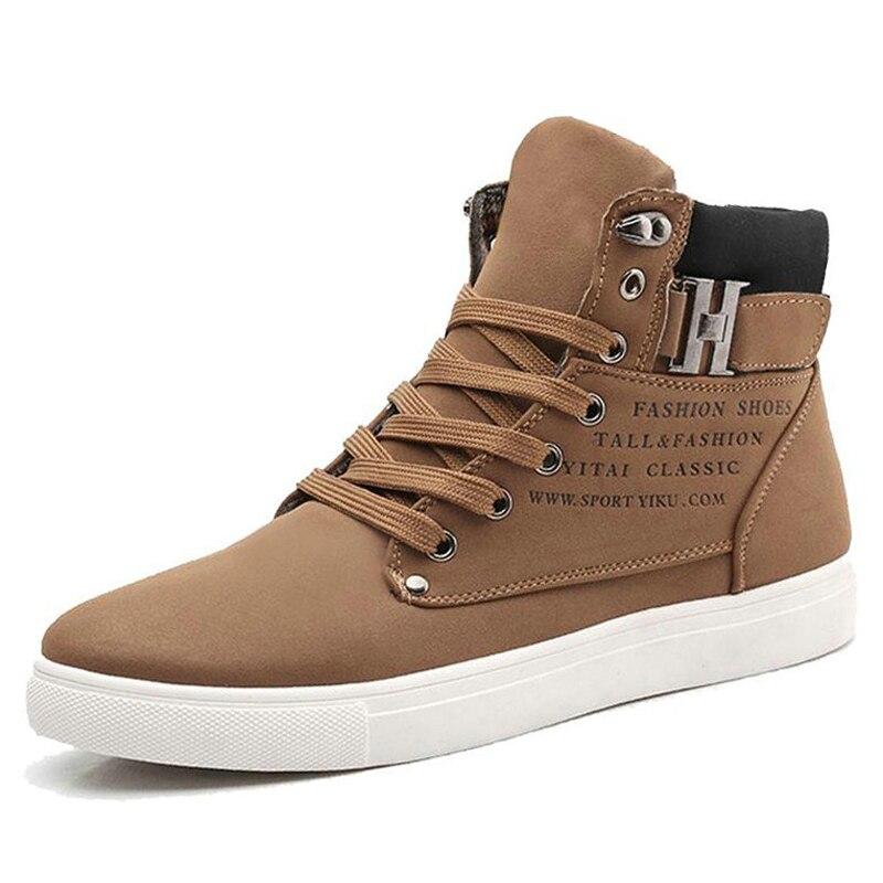 65652f51a 2019 Homens Quentes Sapatos Moda Masculina high-top sapatos Lace-up flats  sapatos Primavera Homens Sapatos Casuais Homem Tênis calçado Homens Sapatos  de ...