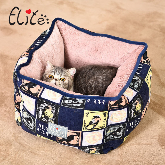 Elite Warm Cat Bed House Soft Pet Dog House Removable Colorful Puppy Nest Shell Corduroy Windproof Kennel For Dogs Cats Bed