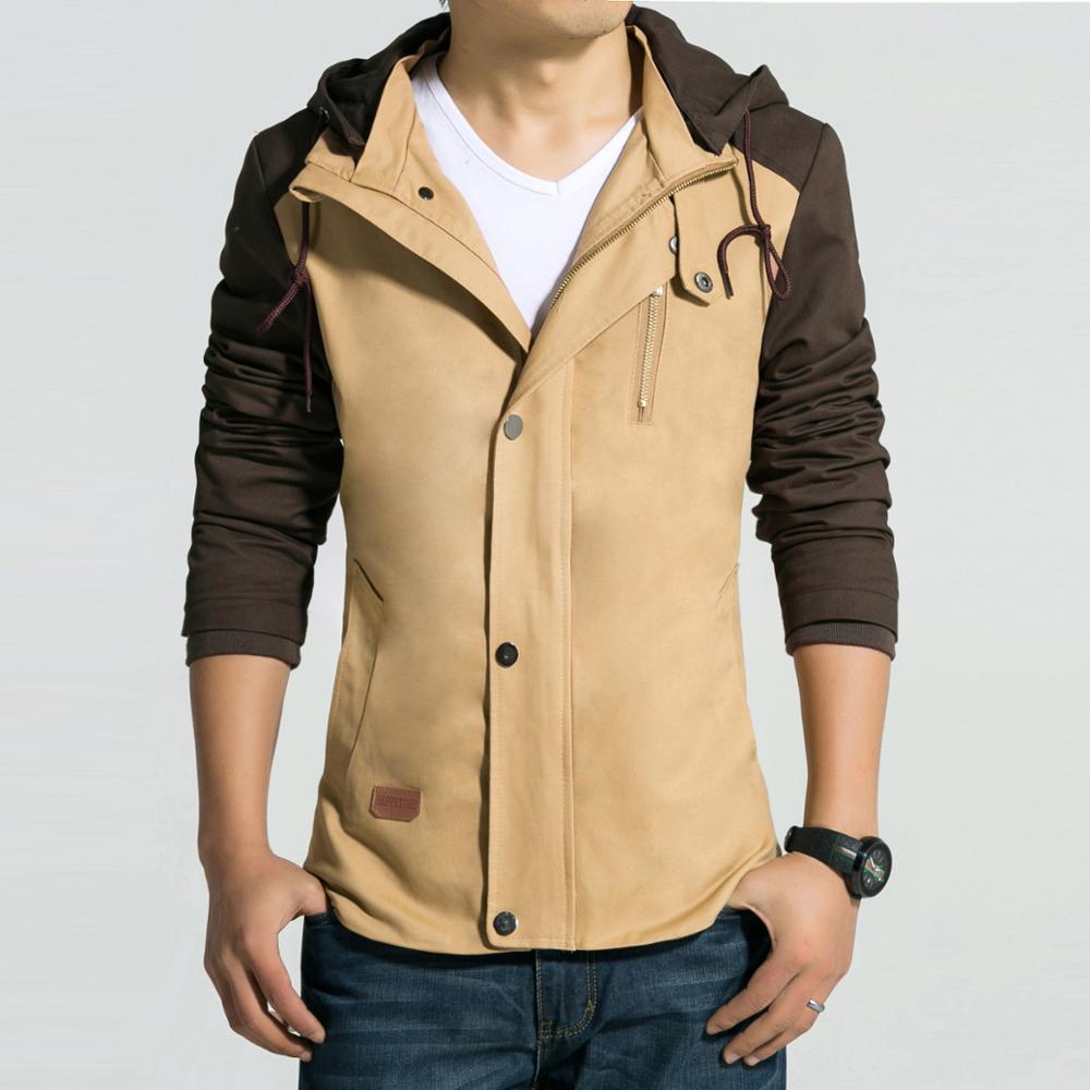 Mens khaki jacket casual - Spring And Autumn Fashion Khaki Jacket Men 2016 Brand Design Cotton Mens Zipper Slim Jackets Casual