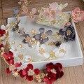 Красный белый розовый цветок ободки головные уборы свадебные аксессуары для волос свадебные украшения Hairband цветка Перлы Зажим Для Волос 237