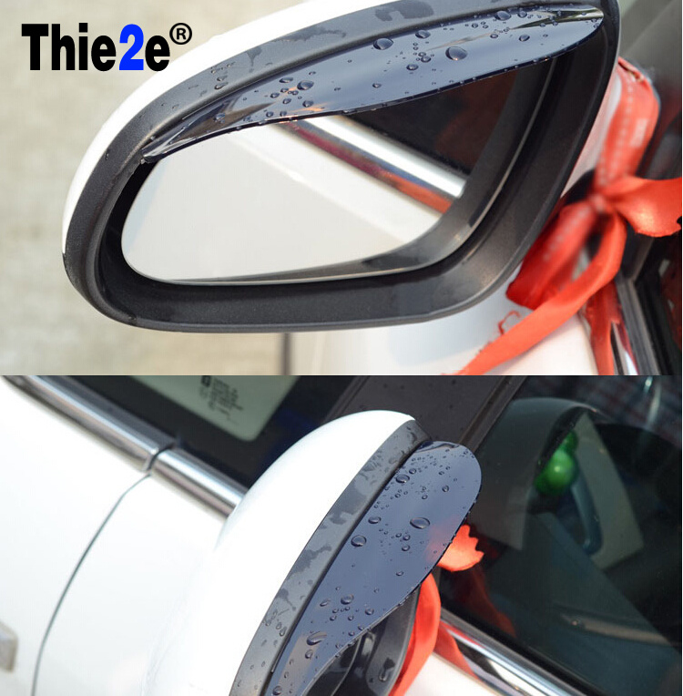 Car Styling Rearview Mirror Rain Eyebrow Shield Cover For