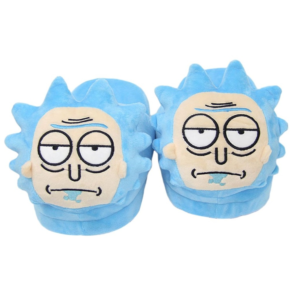 Bedroom Cartoon Cotton Slippers Winter Cute Warmer Cozy Plush Shoes Anti-skid House Indoor Booties Fleece Family Floor Footwear