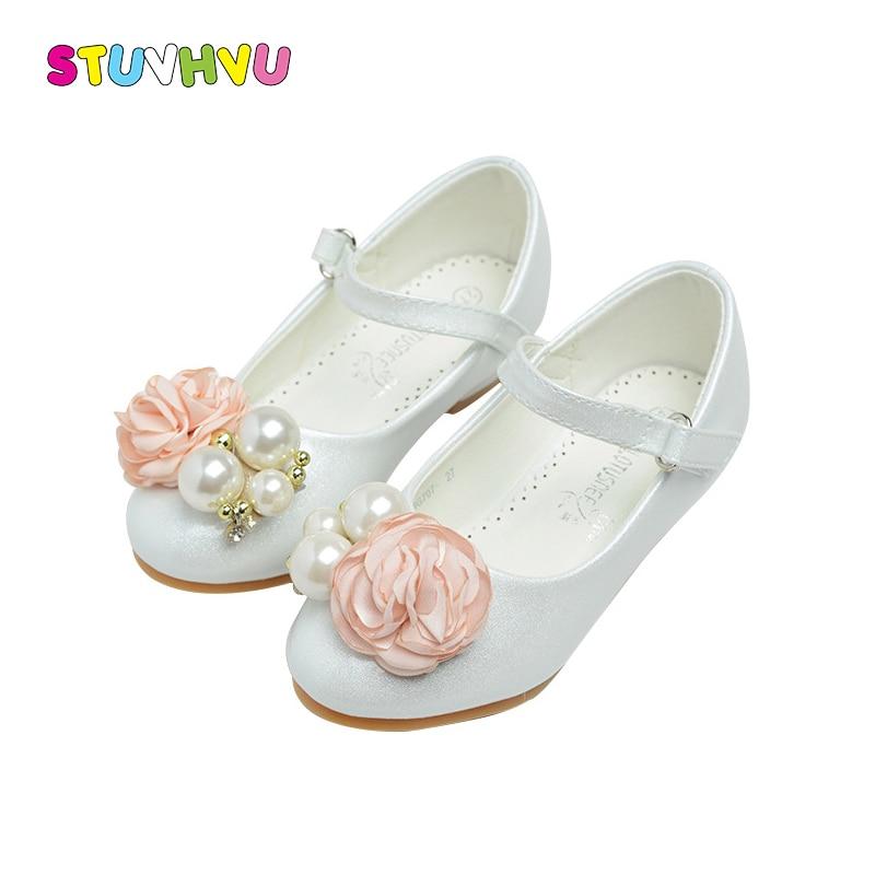 sapatos de couro para meninas calcados infantis 2018 primavera rosa das meninas sapatos de festa para