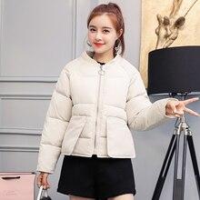 2019 Women Winter Short Jacket Big Pocket Parkas Autumn Coat Loose Parka Cotton Padded Jackets Clothing M-2XL