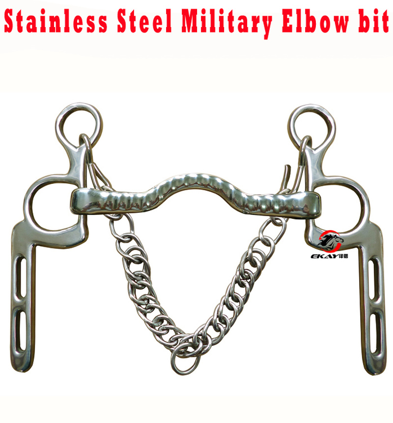 125mm Western Horse Riding Racing Horse Bits Jointed Stainless Steel Bit Equestrian Snaffle Mouthpiece C