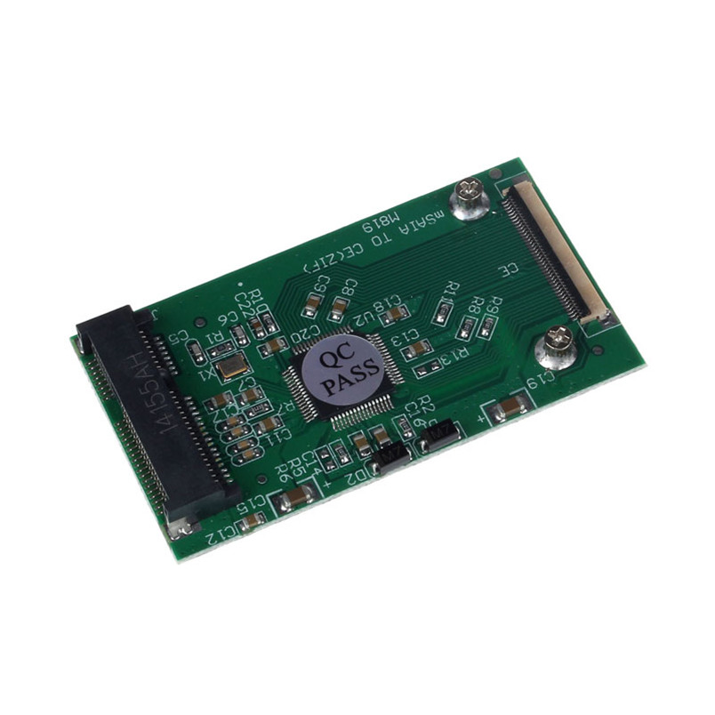 все цены на Reliable New 1PC New Mini mSATA PCI-E SSD To 40pin ZIF CE Cable Adapter Card Hot онлайн