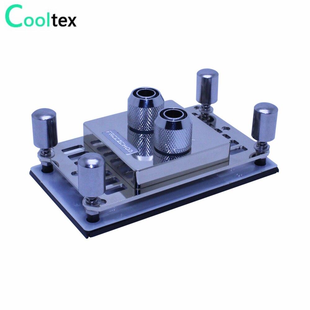 Refroidisseur de radiateur de bloc d'eau de cuivre de Waterblock de refroidissement par eau de CPU à extrémité élevé pour l'ordinateur CPU AMD AM2/AM2 +/AM3/AM3 +/940