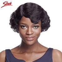 Sleek short wigs for black women 100% human hair wigs Virgin wavy curly Wig Brazilian virgin hair 10 Inch Aliexpress UK Emma