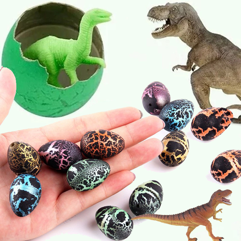 10pcs/lot Dinosaur Eggs Action Figure Add Water Cracks Grow Growing Egg Hatching Growing Kids Education Toy