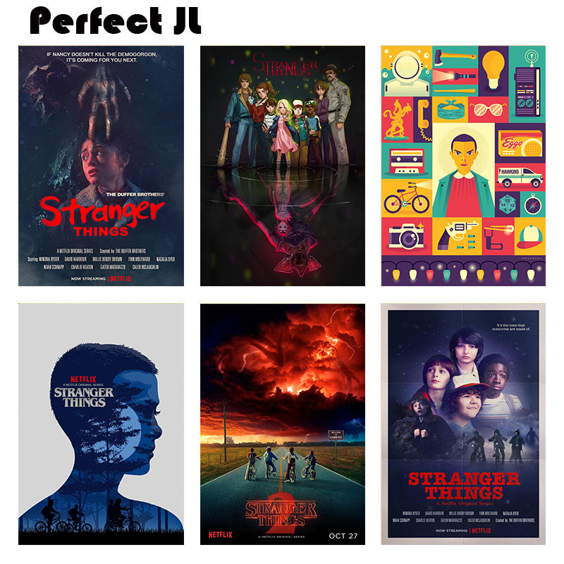 Stranger Things Collection Series B Home Furnishing decorative white coated paper Poster Wall Sticker Home Decora