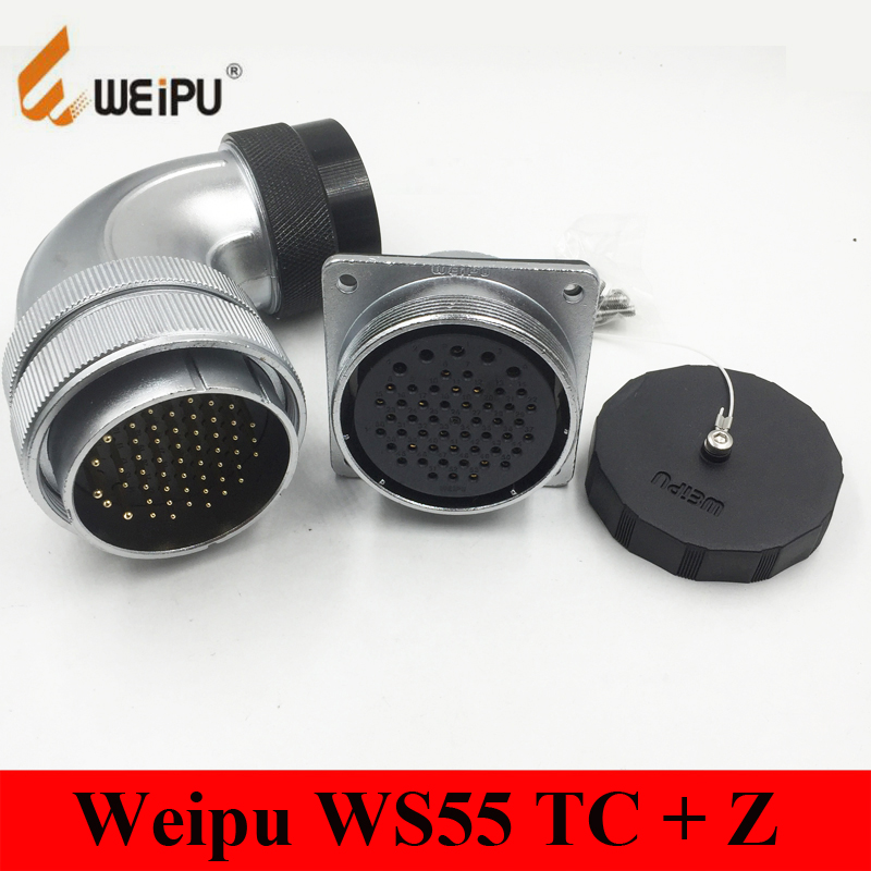 Original Weipu Connector WS55 TC Z 4 7 40 53 61 Pin WS55 Angled Plastic Hose