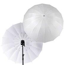 "Godox צילום סטודיו 60 "" / 150cm 75"" / 185cm גדול רך לבן שקוף מטריית עבור פלאש אור Strobe צילום"