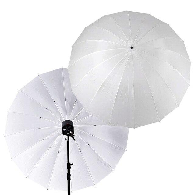 """Godox Photo Studio 60 """" / 150cm 75"""" / 185cm grand parapluie translucide blanc doux pour Flash lumière stroboscopique photographie"""