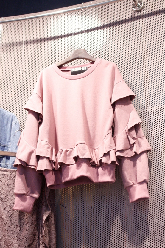 2018 Spring Autumn Woman's New Korean Version Ruffles Stitching Long Sleeves Loose Pullovers Hoodies Student Clothing Coat