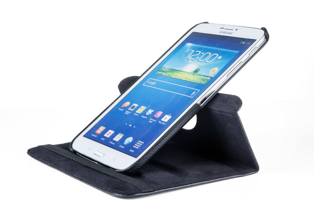buy popular a21b5 d068f US $4.94 25% OFF|2017 new 360 Degree Rotation Pu Leather Case For Samsung  Galaxy tab 3 8