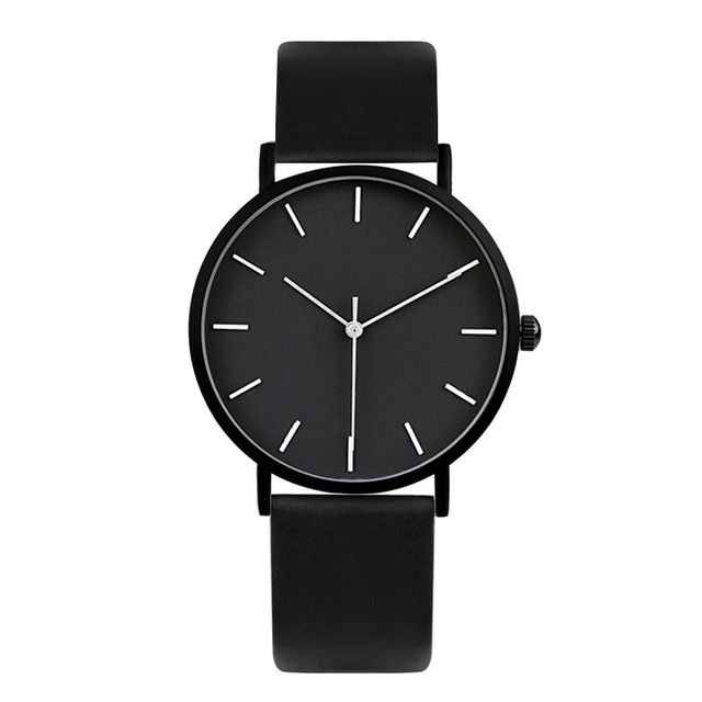 2017 Enmex cool style men wristwatch Brief vogue simple stylish Black and white face stainless steel quartz clock fashion watch