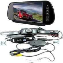 7 дюймов сенсорный экран HD800* 480 Автомобильный монитор заднего вида Зеркало монитор+ Беспроводной камера заднего вида