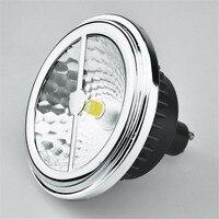 AR111 ES111 LED Lampa 15 W halogenowe Wymienić 75 W G53 GU10 LED reflektor 12 V, CREE COB LED> 85Ra ES111 LED Żarówka Darmowa Wysyłka DHL/UPS
