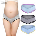 ZTOV 3Pcs/Lot Cotton Maternity Underwear U-Shaped Low Waist Pregnancy Briefs For Pregnant women Plus size Panties Clothes
