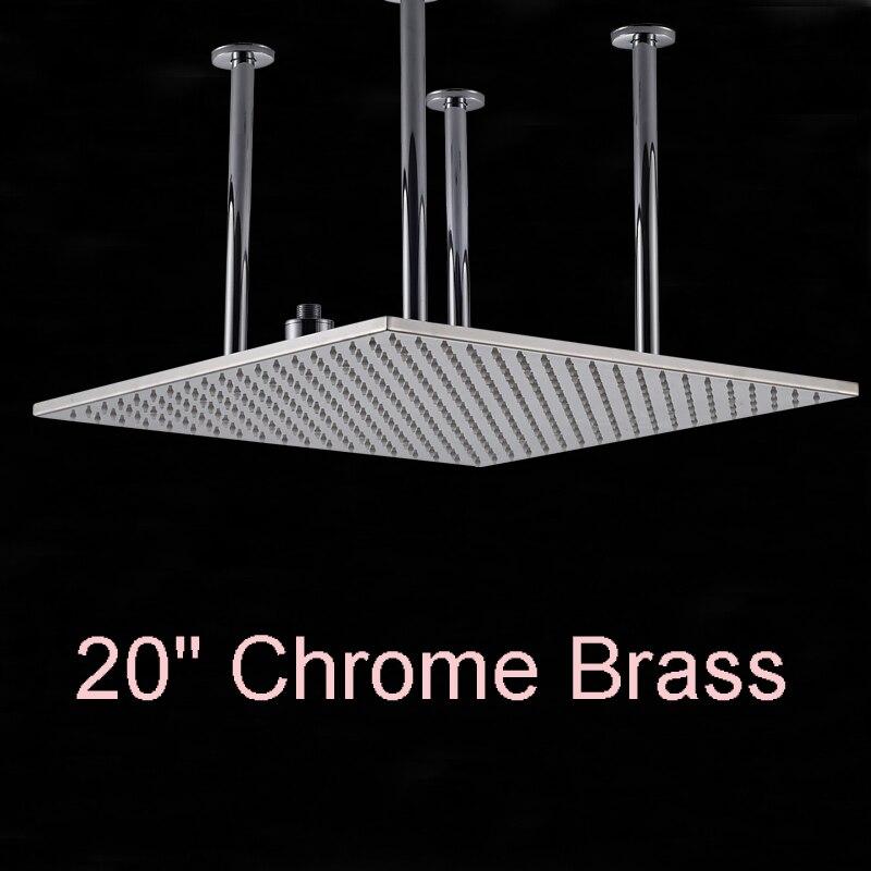 Оптом и в розницу огромный 20 на потолке площади Насадки для душа осадков верхний душ хромированная отделка над верхней душ опрыскиватель