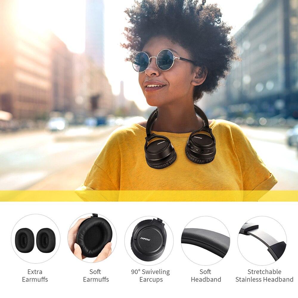 Original Mpow H7 Plus Bluetooth casque sans fil écouteurs Aptx casque avec 13 heures de temps de jeu pour iPhone X Xiaomi Huawei - 4