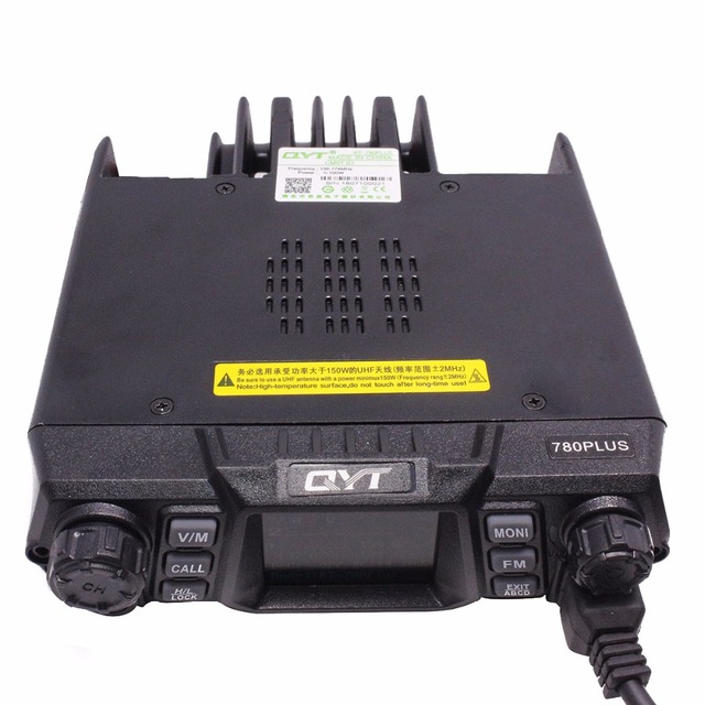 Qyt kt-780 plus 100 watts powerful vhf 136-174mhz ham radio car mobile radio transceiver kt780 200ch long range communication