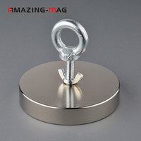 1000KG Powerful Neodymium Strong Magnet Deep Sea Fishing Salvage Magnets Magnet D135*25mm Treasure Imanes Magnetic Material