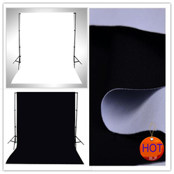 2016 New Double Faced Fabric White,Black Width 2M Photo lighting studio Cotton Chromakey screen Muslin background cloth backdrop
