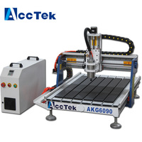 Jinan AccTek 6090 cnc 4th axis router wood carving machine for sale