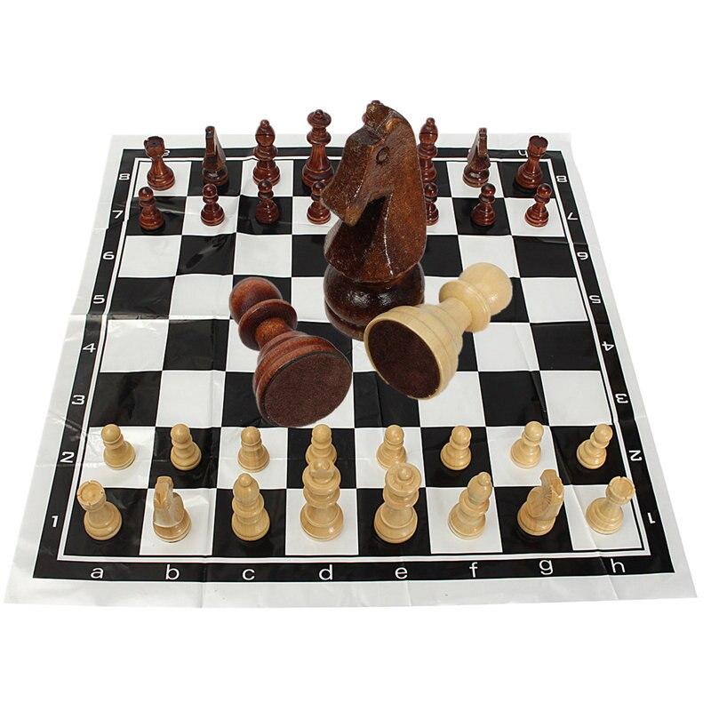 32 шт. международных Шахматные игры комплект смешно складной Folable деревянный Международный шахматы Настольная игра веселые игры развлечени...