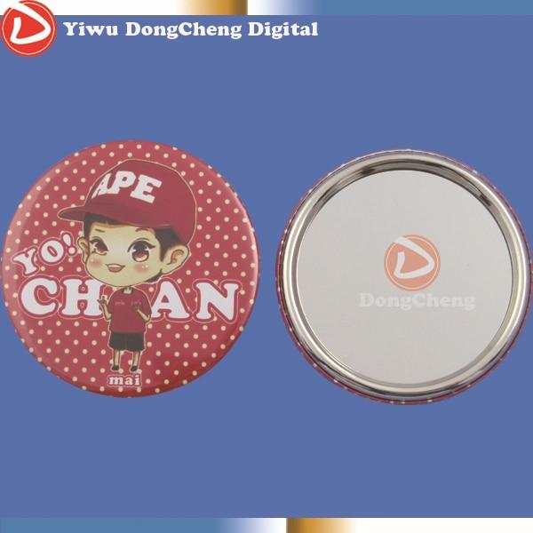 все цены на Customized Mirror button badge 75mm ,DIY metal or plastic mirror can choose,custom logo онлайн