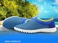 Nuevas 2016 Sandalias de Los Hombres Estilo de Moda sandalias de Los Hombres de los holgazanes de los zapatos Ocasionales Respirables del verano Más El tamaño 45 46 47 Q3