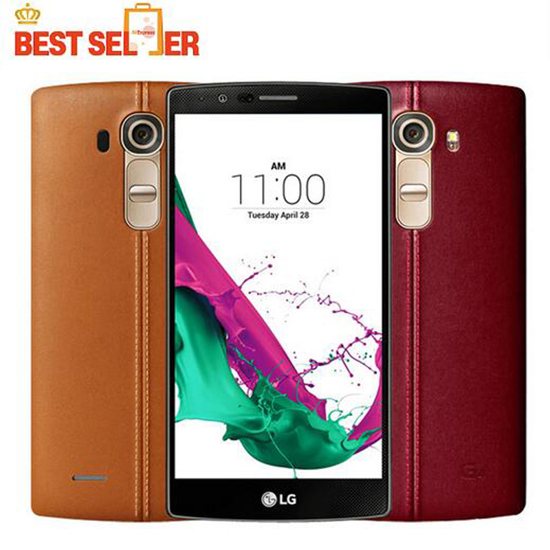 Оригинальный разблокирована LG G4 H815 ЕС гекса Core смартфон 3 ГБ Оперативная память 32 ГБ Встроенная память 5.5 ''сотовый телефон 16.0MP камера 4 г LTE мобильный телефон