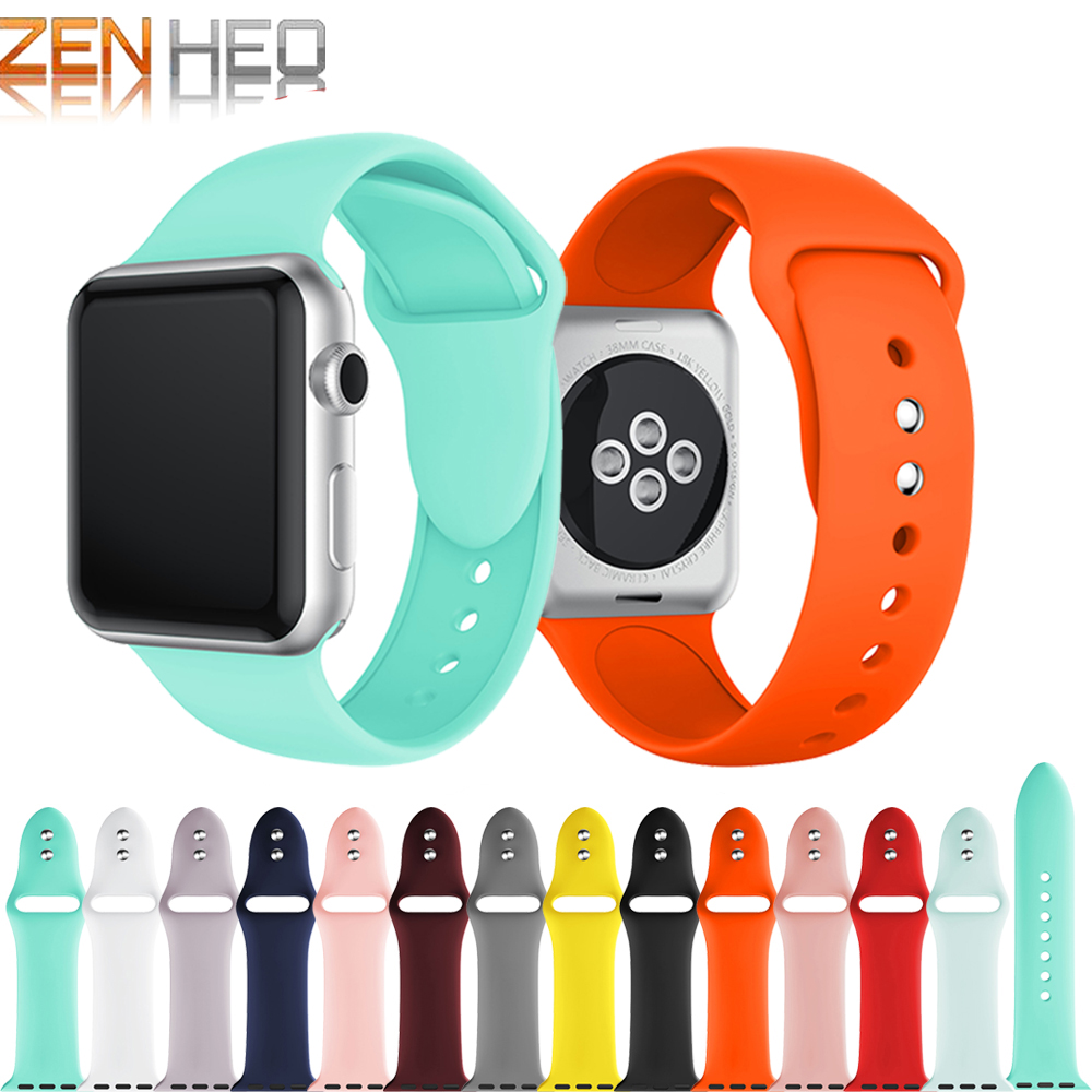 Sports-Band Watchband-Strap Apple Colorful 42MM Soft-Silicone for 1-2-3-4-38mm Rubber