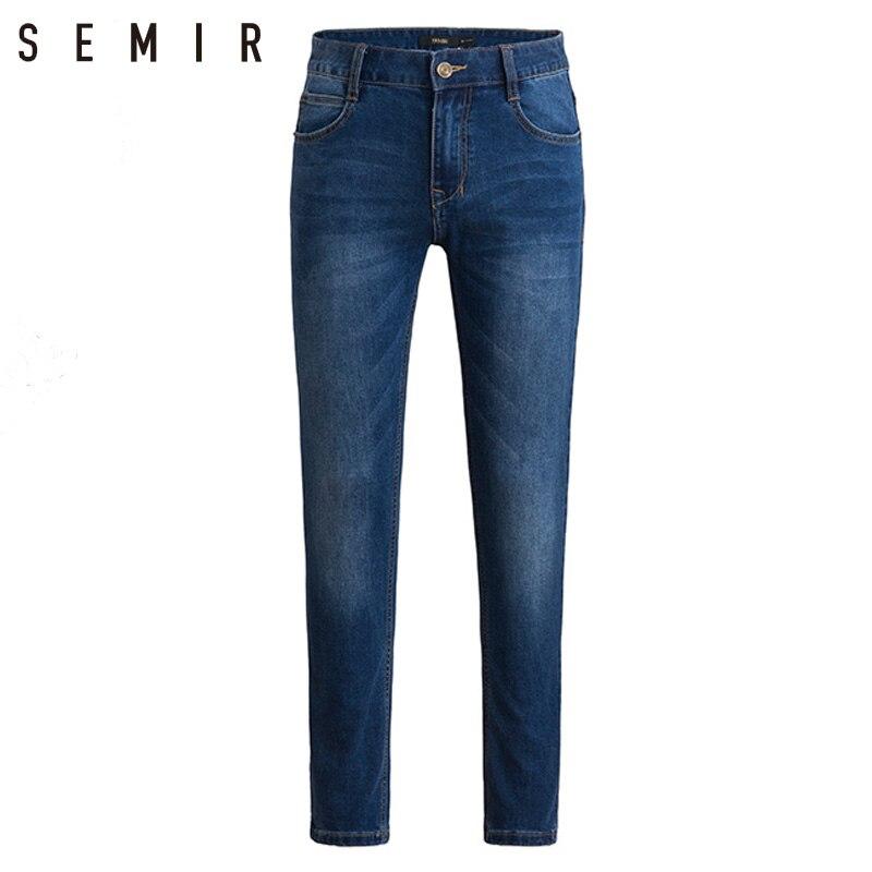 SEMIR dei jeans uomo mens slim fit pantaloni classici dei jeans maschili dei jeans del denim dei Pantaloni Del Progettista di Casual pantaloni Diritti scarni Elasticità