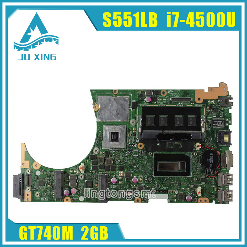 For ASUS K551L K551LB K551LD K551LN S551L S551LB S551LD S551LN Motherboard i7-4500u S551lN REV2.2 Mainboard GT740 2G 100% Tested original laptop battery b31n1336 for asus vivobook c31 s551 s551 s551lb s551la s551ln 1a r553l r553ln r553lf k551ln v551l v551la