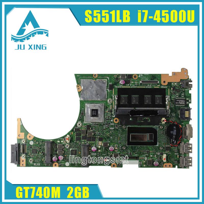 For ASUS K551L K551LB K551LD K551LN S551L S551LB S551LD S551LN Motherboard i7-4500u S551lN REV2.2 Mainboard GT740 2G 100% Tested