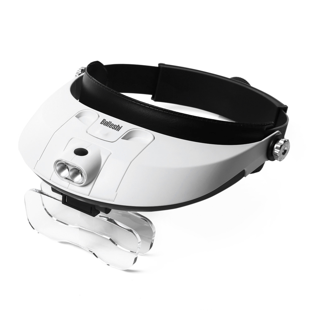 Beileshi 81001 - G 6.0x Wearable Magnifier Headband Headlamp Convenient Illuminated Magnifier with 5 Replaceable Lens Beileshi 81001 - G 6.0x Wearable Magnifier Headband Headlamp Convenient Illuminated Magnifier with 5 Replaceable Lens