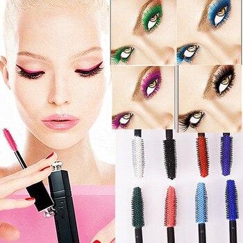 Dragon Yeux Maquillage Professionnel Étanche Facile Enlever Punk Bleu Blanc Rouge Noir Violet Rallongent Cils Couleur Mascara AM002