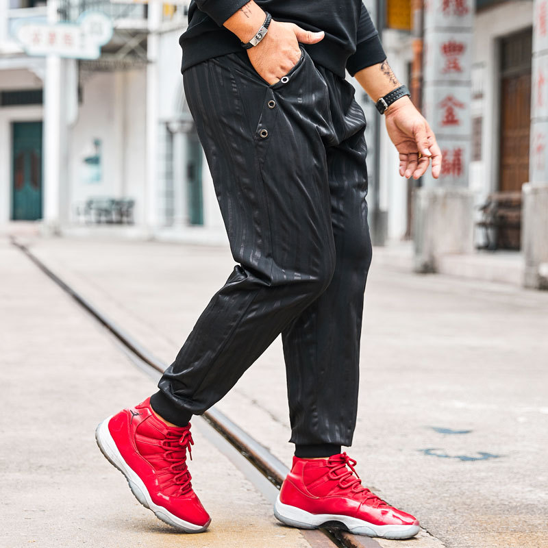 2019 adapté aux pantalons de survêtement pour hommes mode hommes pantalons décontractés de rue hommes grande taille attache sport pantalon XL-4XL 5XL 6XL