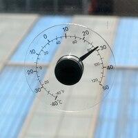 Напольный бытовой Аналоговый термометр Цельсия прозрачный измеритель контроля температуры стекло прилипающее стекло