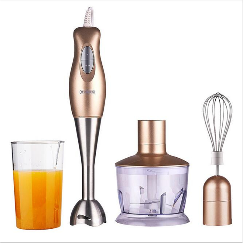 220V Handheld Electric Food Mixer Multifunction Blender Electric Cooking Machine Egg Whisk With Stainless Steel Blade high speed 220v hand food blender electric eggs whisk mixer multifunction juicer fruit grinder cooking machine eu plug j25c27