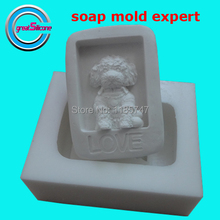 Great-Mold 3D Lovely Dog Silicone Mold Soap Mold Decorating Fondant Chocolate Molds