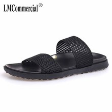 Slippers men's beach shoes sandals Sneakers Men Slippers Flip Flops casual Shoes outdoor anti-skid new summer male sandals стоимость