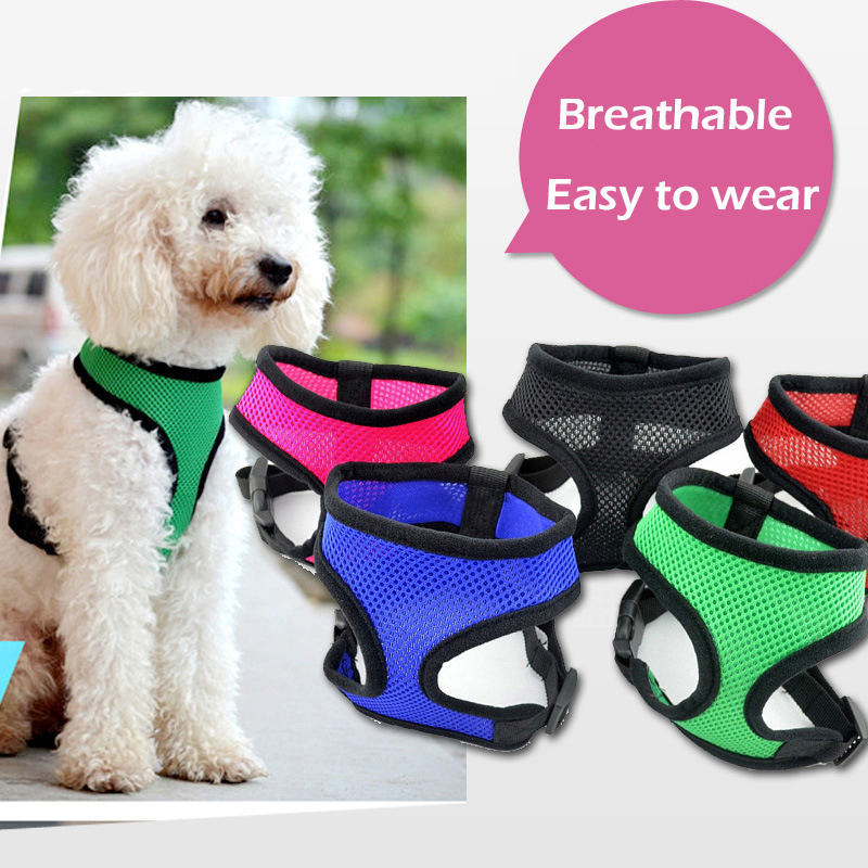 Vest Dog Harness Training For Chihuahua Puppy Soft Mesh Pet Harness For Dogs Cats Small Medium Nylon Chest Strap Bulldog Petshop