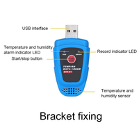 Temperature Logger Temperature And Humidity Data Recorder USB Automatic Data Recording Refrigeration Transport Thermometer