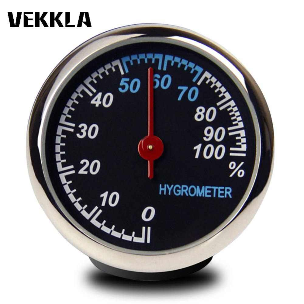 Car Automobile Thermometer Hygrometer For Dashboard Ornament Car Mechanics Thermometer Temperature Instruments