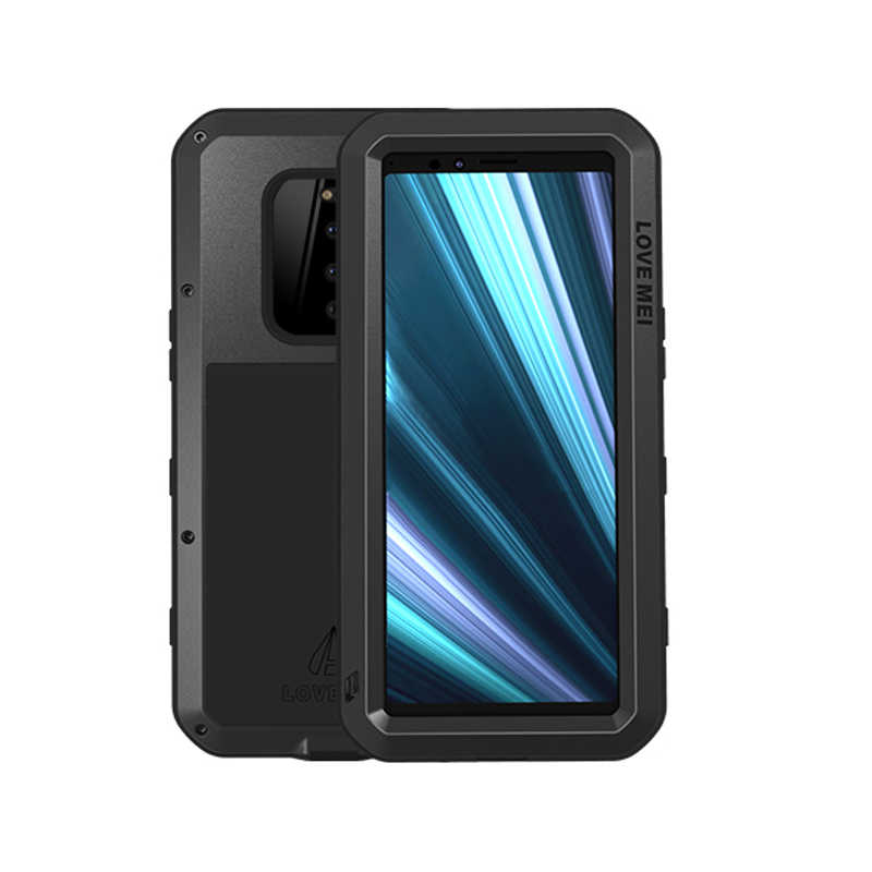 Metal Armor Full Body Case For Sony Xperia 1 Case 360 Shockproof Dustproof Heavy Duty Protective Cover For Sony Xperia 1 Cover