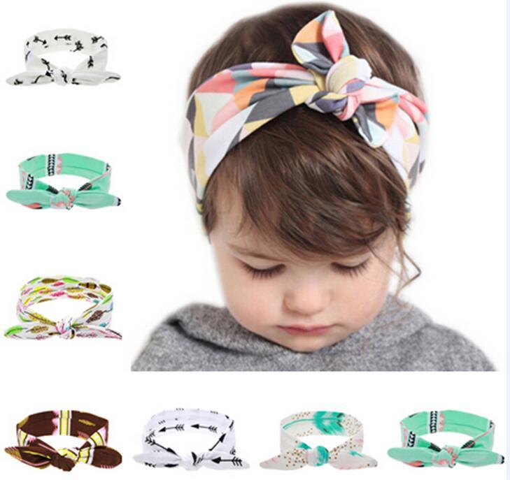 TWDVS Dětský uzlový čelenka DIY Bavlněný zábal do vlasů pro děti Novorozence pokrývky hlavy Vlasové doplňky W228